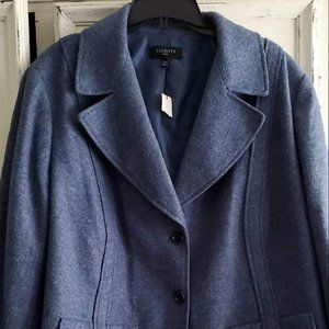 Nwt talbot womens coat size 24. color is blue